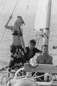 Alain Delon And Brigitte Bardot In Saint Tropez, France In August, Pictures