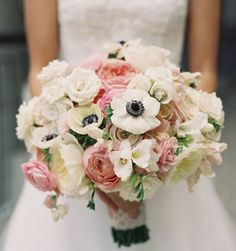 Unique Wedding Bouquet Ideas. To see more: http://www.modwedding.com.  Probably the most popular boquet flowers this year.