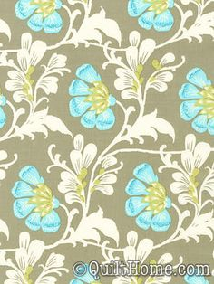 Daisy Chain AB40-Grey Fabric by Amy Butler. Fabric for duvet cover.