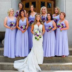 Bridesmaid Dresses in Lavender Purple for this chic bridal Party. Morilee by Mad… Bridesmaid Dresses in Lavender Purple for this chic bridal Party. Morilee by Madeline Gardner style a Romantic A-Line with Beaded Lace Bodice and Chiffon Skirt. Lavender Bridesmaid Dresses, Bridesmade Dresses, Elegant Bridesmaid Dresses, Western Wedding Dresses, Lace Bridesmaids, Luxury Wedding Dress, Bridesmaid Gowns, Pageant Dresses, Dresses Elegant