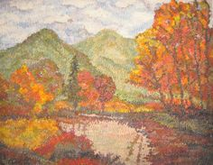 Fall Creek in the Valley complete Rug hooking kit #misslucyp