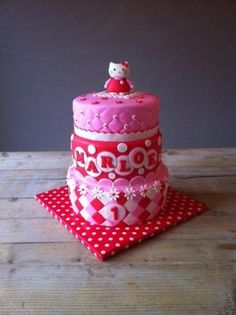 Hello Kitty cake By Taaartjes on CakeCentral.com