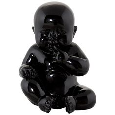 Mercury Row This adorable statuette in ultra-hard-wearing polyresin represents a seated baby. A decorative idea for all tastes. Resin Sculpture, Tree Sculpture, Decoration Design, Deco Design, Strawberry Decorations, Kokoon Design, Family Painting, Elephant Figurines, Dog Ornaments