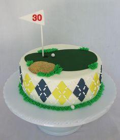 golf cake- i like the argyle on the sides except with orange & black!