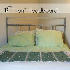 """Iron"" Headboard made out of PVC pipe (from Beyond Cookie Cutter)"