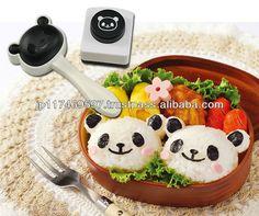 japanese kitchenware cutiing tools rice ball maker panda punch mold set
