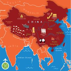 Explore China with this illustrated atlas.