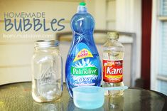 Homemade Bubbles Recipe from LearnCreateLove.com
