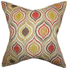 Xylon Geometric Cotton Throw Pillow