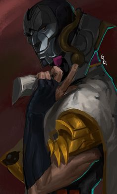"tyrzor: "" 「Jhin by 발뚱땡이」 """