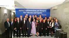 """Berlin,  March7, 2015: Maryam Rajavi among the prominent guests who attended the Berlin gathering on March 7th. Tens of thousands gathered in Berlin today to commemorate International Women's Day, in the gathering for """"Tolerance and Equality for Women""""."""