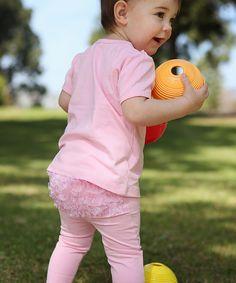RuffleButts Pink Ruffle Leggings - Infant by RuffleButts #zulily #zulilyfinds