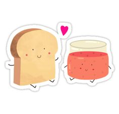 Bread loves jam by siolin