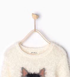 Imagen 3 de Jersey pelo mapache de Zara