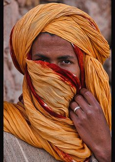 allthingsmoroccan:   portrait of a Berber man, Ait Benhaddou, Morocco by jitenshaman on Flickr.