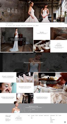 Sito web @grittispose  creato da effADV -   #website, created by effADV - #webdesign #graphicdesign #weblayout #web #graphic #weddingdress #photography