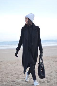 Minimal fashion blogger Shot From The Street