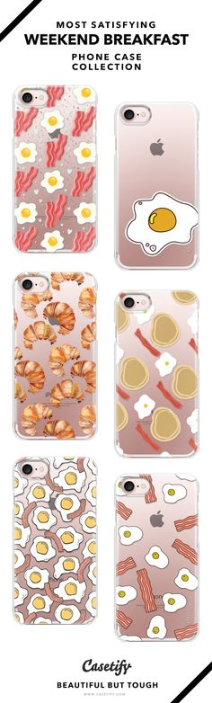Wake Up To Eggs & Bacon | So Delicious and Most Satisfying Weekend Breakfast Phone Case Collection - iPhone 6/6s/7/7+ AND MORE! Shop them here ☝️☝️☝️ BEAUTIFUL BUT TOUGH ✨ - Breakfast, Brunch, Weekend, Egg, Recipe, Homemade, Cook, Food, Not Guilty
