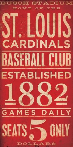 St Louis Cardinals  baseball typography graphic by geministudio boards-and-quotes