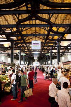 Roma Farmer's Market, in the old abattoir, Testaccio, Rome, Italy,