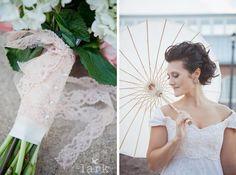 A vintage lace wedding <3