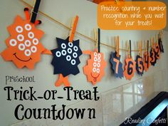 Trick-or-treat Countdown from Reading Confetti