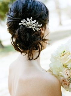 Hair pin. Gosh I love brunette hair. But I will not dye my hair until after the wedding. Then maybe I'll try something new.
