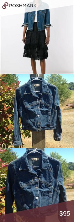 See By Chloe jean jacket In good condition with no rips or stains Not a true to size Perfect fit XSMALL See By Chloe Jackets & Coats Jean Jackets