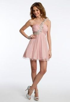 Short Glitter One Shoulder Dress from Camille La Vie and Group USA