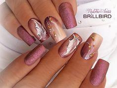 50 artistic nail designs and colors 2019 - . - 50 artistic nail designs and colors 2019 – – - Fancy Nails, Cute Nails, Pretty Nails, Autumn Nails, Fall Nail Art, Beautiful Nail Designs, Beautiful Nail Art, Fabulous Nails, Gorgeous Nails