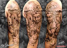 #tatuaje #tattoo #tatuaje3D #tatuajebiomecanico #juanpetattoo www.juanpetattoo.es #blackandgreytattoo #realistictattoo #tattoorealism #japanesetattoo #tatuajejapones