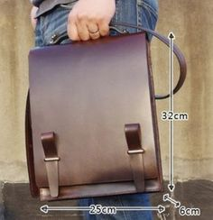 Image of Custom Handmade Leather Briefcase, Messenger Bag Men's Handbag MS04