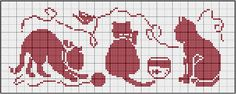 Cross stitch pattern, cats.