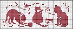 Cross stitch pattern, cats.