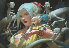 Dragon Spirit, Zeen Chin on ArtStation at https://www.artstation.com/artwork/rXwrE
