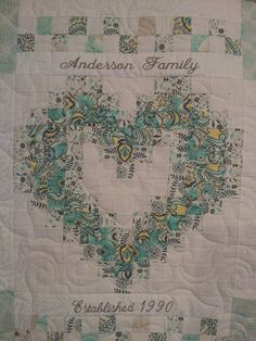 Family Heart Quilt by SweetonStitchesEtsy on Etsy, $195.00