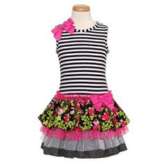Bonnie Jean Baby Girls Size 18M Fuchsia Black Floral Tier Spring DressFrom #Bonnie Jean List Price: $40.00Price: $32.99 Availability: Usually ships in 1-2 business daysShips From #and sold by SophiasStyle