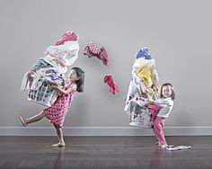 These are the cutest little girls! A series of photos taken by their dad.....adorable!