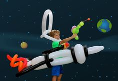 Balloon 'Ride-Inside' Space Rocket Ship, Space Suit and Balloon Ray Gun from TassieMagic.com.au
