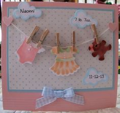 Naomi Baby Card by Susie B - Cards and Paper Crafts at Splitcoaststampers