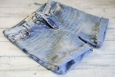 Never bought denim shorts...here's a how to:  4 Ways to Turn Jeans into Shorts - wikiHow