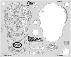 artool freehand airbrush templates steam driven steam skull