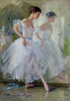 """Ballet Dancer"" - painting by Konstantin Razumov Ballet Art, Ballet Dancers, Ballerinas, Ballerina Kunst, Degas Ballerina, Ballerina Painting, Dance Paintings, Degas Paintings, Contemporary Abstract Art"