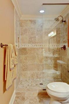 doorless shower design | ... doorless 4x5 shower stall with glass ...