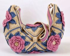 Outstanding Crochet: Link to pattern for this Desigual-esque crochet bag!