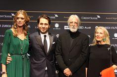 Nadja Schildknecht, Karl Spoerri, Michael Haneke and his wife at the ZFF Award Night 2013 Film Festival, Filmmaking, Awards, Night, Movies, Movie Posters, Movie Theater, 2016 Movies, Film Poster