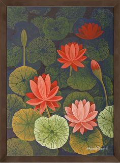 Chandru Hiremath's paintings available as Limited Edition HD Print on Canvas. This Indian artwork Untitled with SKU is available exclusively at ArtCollective. This painting is in the collection FLORA Pichwai Paintings, Indian Art Paintings, Abstract Paintings, Indian Artwork, Indian Folk Art, Indian Prints, Kerala Mural Painting, Madhubani Painting, Lotus Painting