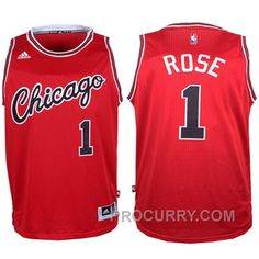 07db1fc90 Derrick Rose Chicago Bulls  1 2015-16 NBA Hardwood Classics Nights Red New  Jersey