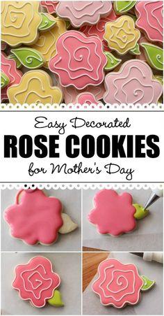 Make easy whimsical rose cookies in three easy steps!