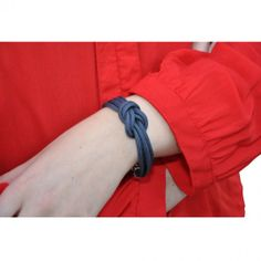 Double Daisy Bracelet - Gray/Blue #bracelets #fashion #jewelry  9thelm.com